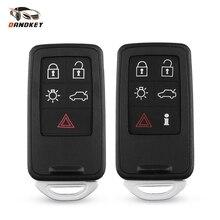 Coque de clé de voiture intelligente   Boutons 5/6, pour Volvo S60 V60 S70 V70 XC60 XC70 2007-2017, couvercle de conception sans clé