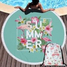Popular Flamingo serie verano Toalla de playa 150cm de microfibra Toalla de baño para natación al aire libre deporte Yoga cobija casual de la estera de la playa