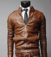 Chaquetas de cuero con cremallera para hombre de marca PU chaqueta clásica Masculinas Inverno curo chaqueta de cuero de motocicleta negra para hombre