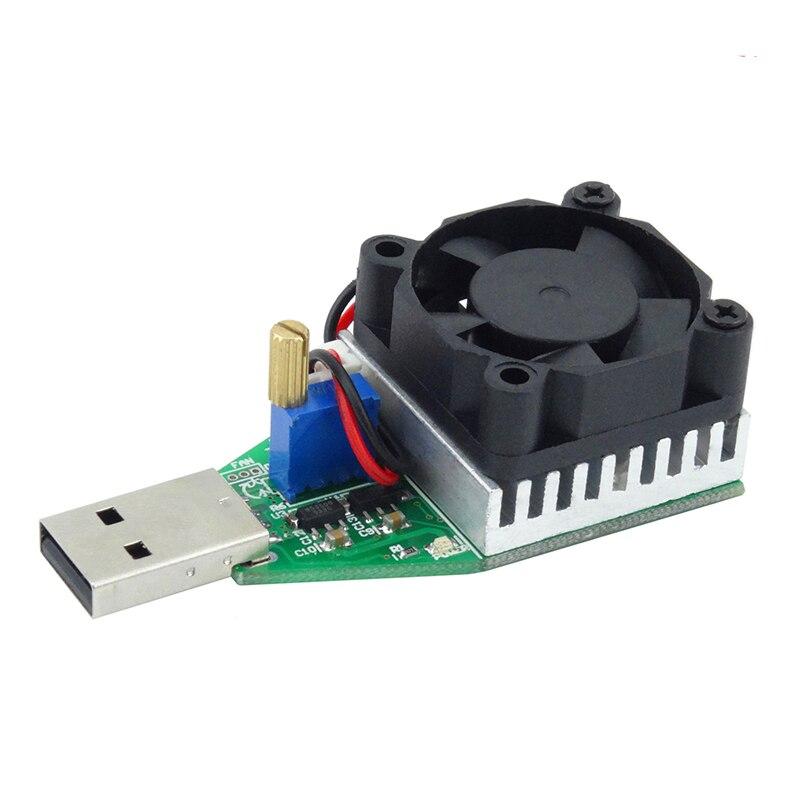 Nuevo DC 3,7 ~ 13 V USB 15 W ajustable corriente constante descargador de carga electrónica