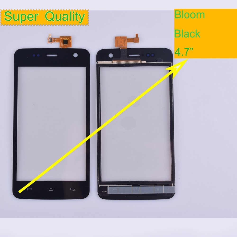 10Pcs/lot For Wiko Bloom Touch Screen Panel Sensor Digitizer Front Outer Glass Touchscreen For Wiko Bloom Touch Panel Black недорого