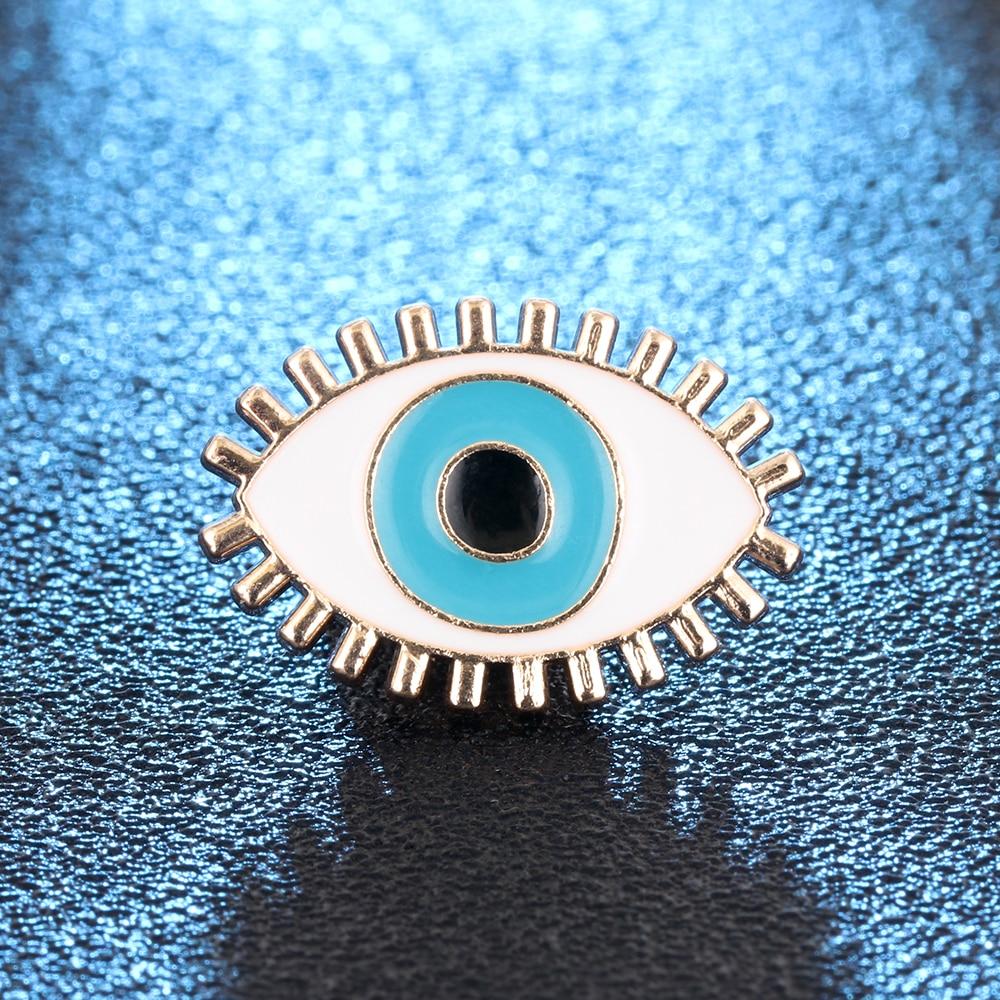 Exclusive Exquisite Enamel Blue Eyes Brooch Denim Pin Buckle Shirt Badge Gift Jewelry