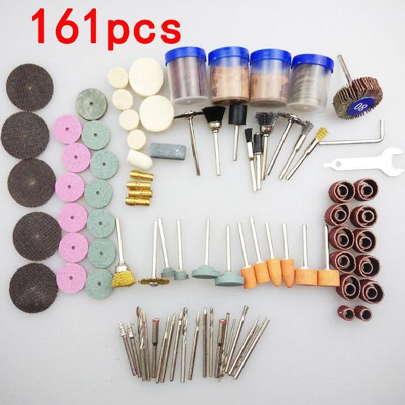 Juego de accesorios para herramientas multirotativas y minitaladro de 161 piezas, Kits de pulido para microtaladro Dremel, pulido giratorio