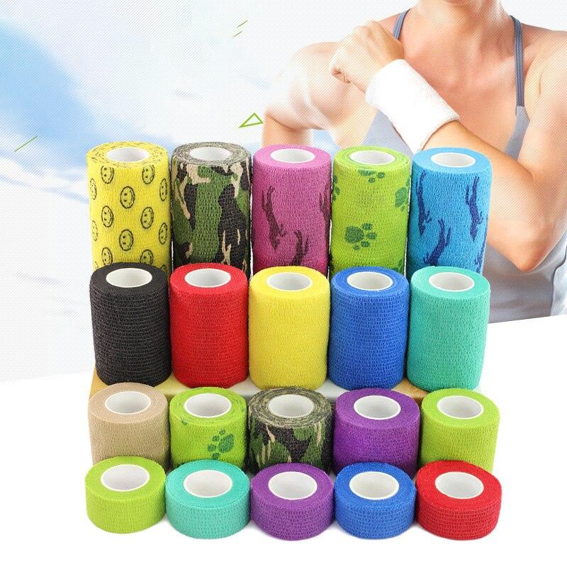 Sports self-adhesive elastic bandage Fitness Finger guard wrist knee ankle self-adhesive Waterproof Emergency Treatment 2020