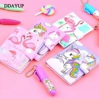 1 set cute unicorn flamingo memo pad ball pen sticky notes memo notepad notebooks gift kawaii stationery