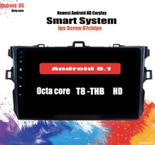 Android 10.0 Carplay 4G SIM voiture dvd gps navigation pour Toyota corolla 2007 2008 2009 2010 11 voiture dvd radio gps stéréo tête unité