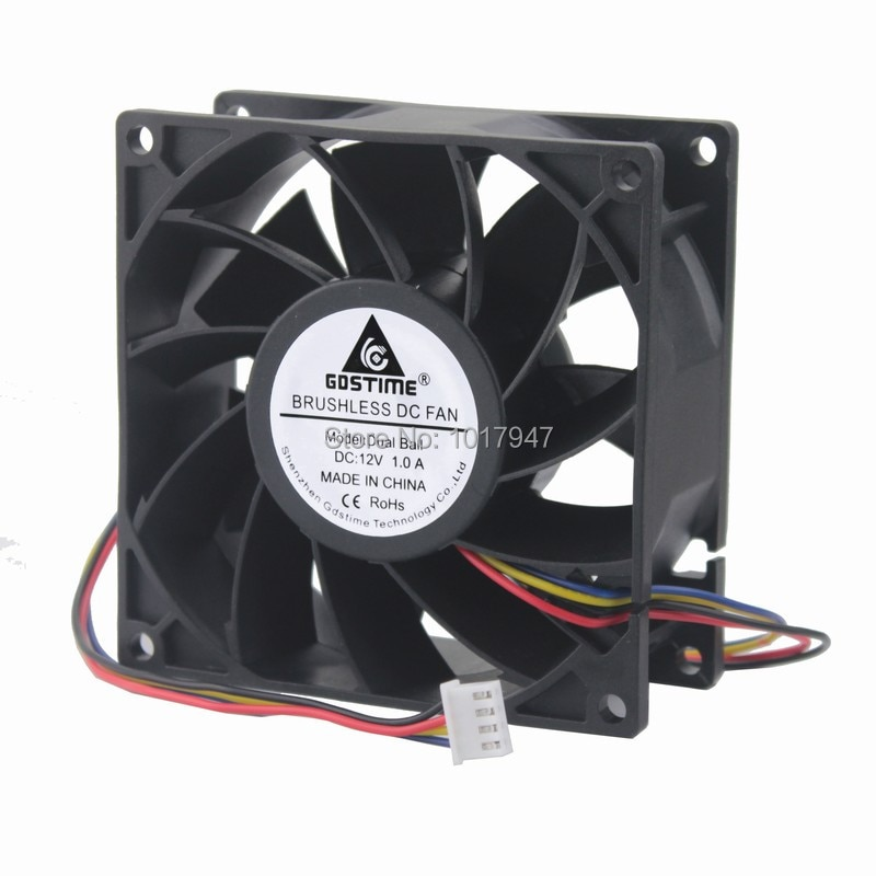 1pieces DC 12V 4Pin PWM FG 9238 92x92x38mm 90MM 9cm Computer CPU Case Cooling Fan Dual Ball Bearing