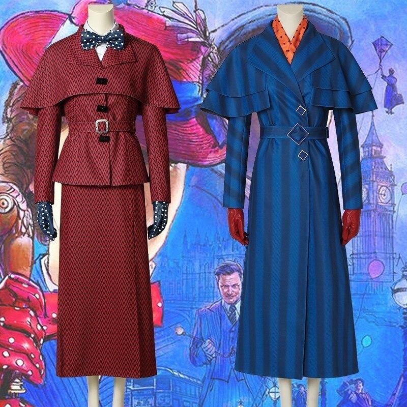 Костюм Мэри Поппинс для косплея Джули Эндрюс Эдвардс, костюм из фильма, карнавальный наряд для взрослых, костюм супергероя на Хэллоуин