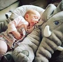 40cm de altura grande de peluche elefante muñeca de juguete para niños durmiendo cojín lindo elefante de peluche bebé regalo de Navidad