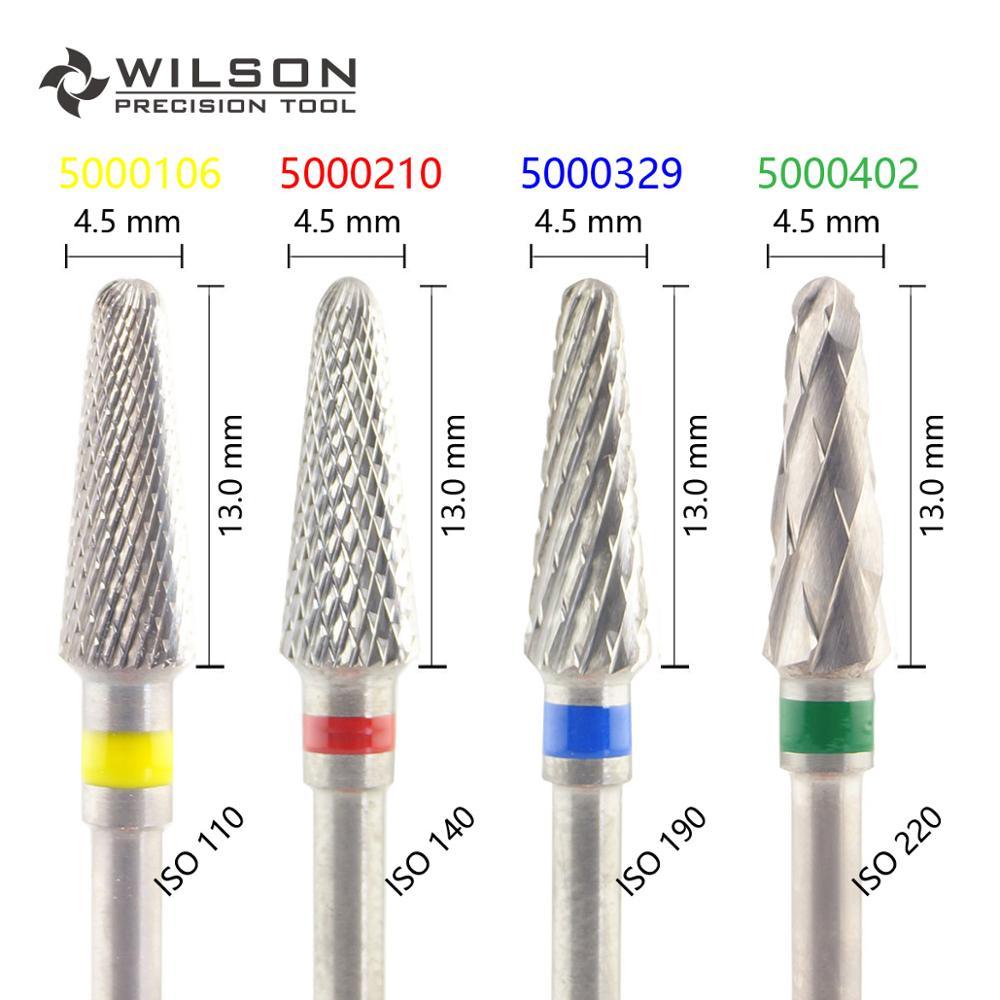 Forma cónica ISO 200 045-Corte transversal-HP WILSON carburo de tungsteno torno de laboratorio dental 5000106 5000210 5000329 5000402