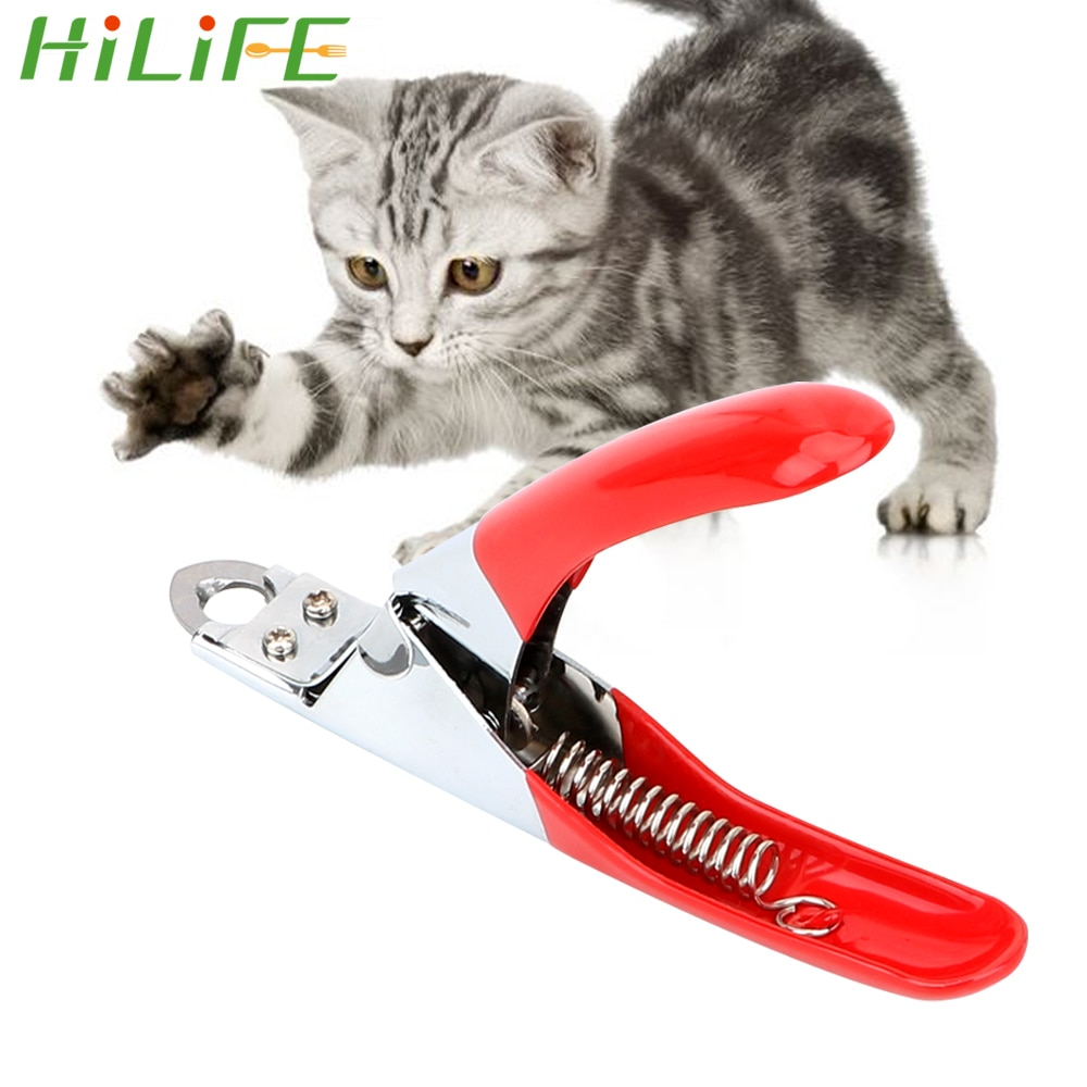Hilife pet products aço inoxidável garra tesoura aparador de unhas pet clippers gato grooming