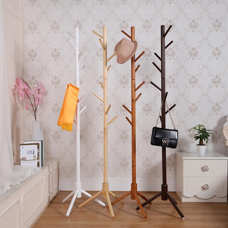Premium de Perchero de madera libre de pie con 8 ganchos tronco de árbol abrigo estante para abrigos sombreros bufandas ropa bolsos