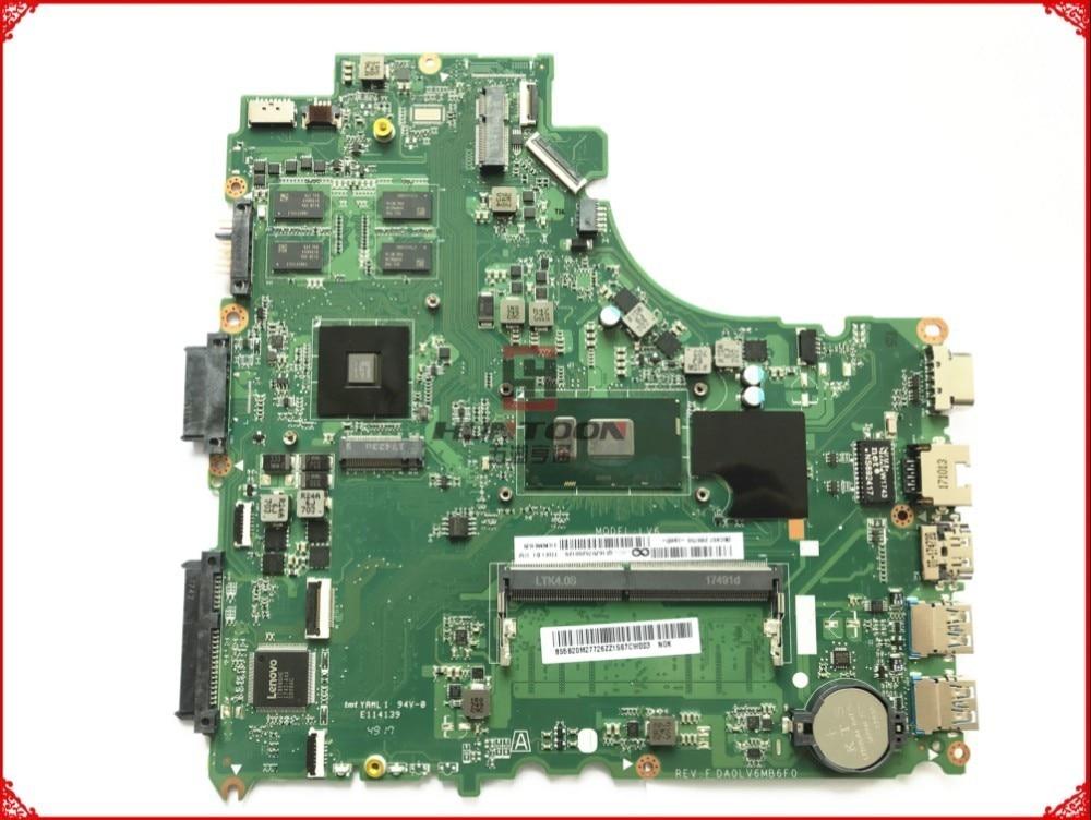 Alta calidad FRU 5B20M27726 para la placa base del ordenador portátil Lenovo V310-14ISK DA0LV6MB6F0 LV6 SR2EU I3-6100U 4GB 100% totalmente probada