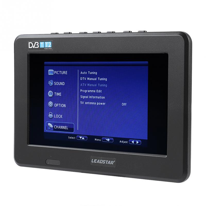 Leadstar 7 polegada tv hd tft tela led mini carro móvel tv digital suporte potable dvb-t DVB-T2 atsc isdb tv usb cartão tf