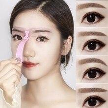 4/1 Uds., plantilla reutilizable para moldear cejas para mujeres, plantilla para moldear ojos, plantilla de guía de dibujo, herramienta de maquillaje permanente, potenciadores de cejas