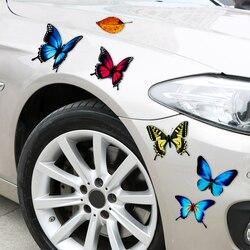 Linda borboleta deixa desenhos animados da motocicleta decalque do carro adesivos de carro engraçado decalques de automóveis capa de risco-estilo do carro adesivo
