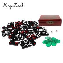 MagiDeal 중국어 파이 Gow Paigow 타일 세트 카지노 게임 파티 재미있는 장난감 파티 Entertainemnt 도박 게임 참신 장난감 선물