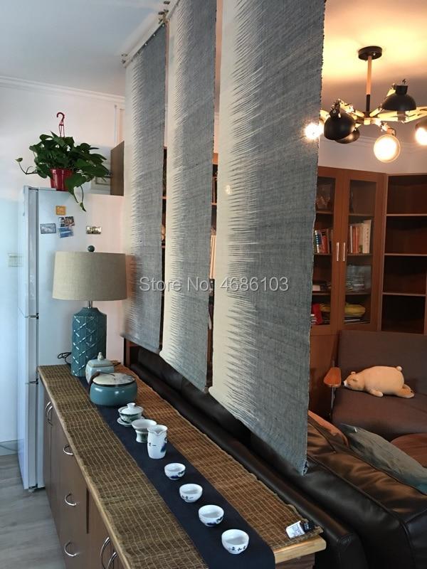 Japanese style Tearoom Ramie Cloth Curtain blinds Partition curtain Zen Vestibule screen Door curtain for living room/Bedroom