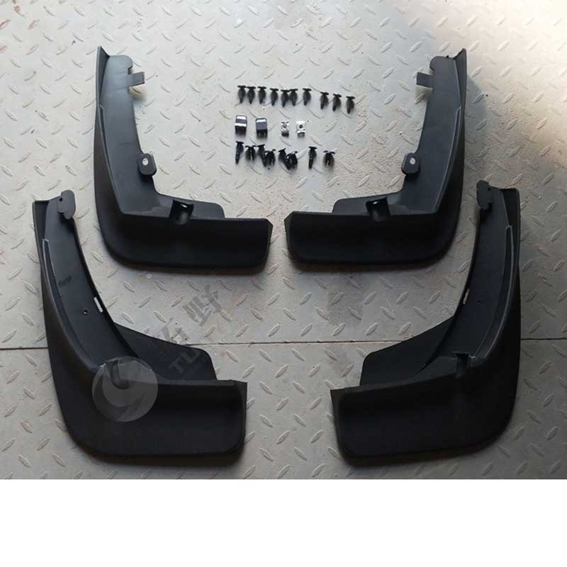4pcs Premium Auto Front&Rear Heavy Duty Molded Flares Splash Mud Flaps Guards Fenders For VolksWagen Touareg 2.0T 3.0T 2019