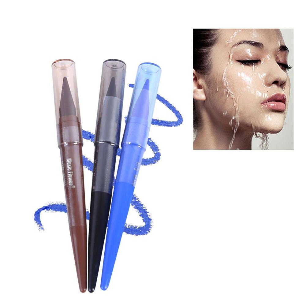 Delineador de ojos Gel Pen llevar mucho tiempo impermeable delineador de ojos Kit de maquillaje Multicolor opcional
