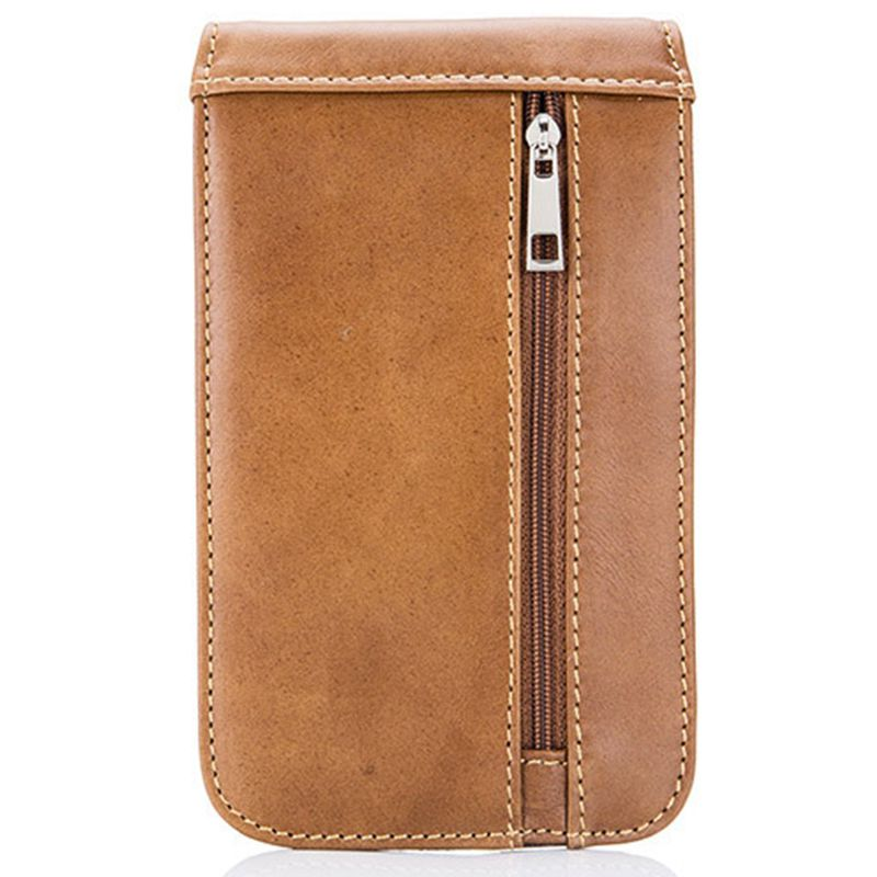 BULLCAPTAIN Genuine Leather Waist Packs Fanny Pack Men Cigarette Purse Male Waist Belt Bag Casual Mobile Phone Bags
