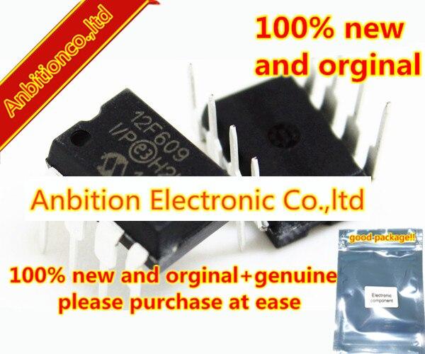 10 piezas 100% nuevo y original PIC12F609-I/P DIP8 de 8 pines con base de Flash, microcontroladores CMOS de 8 bits en stock