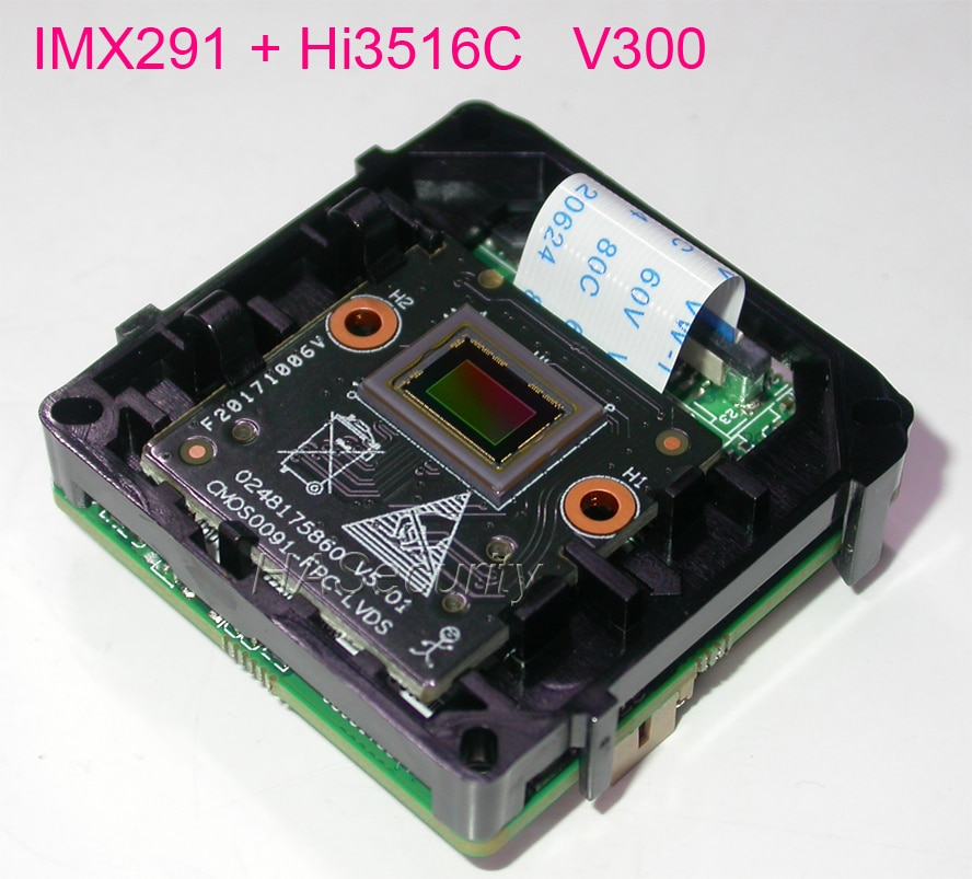 "Análisis Inteligente H.265/H.264 IPC 1/2 8 ""Sony"" STARVIS IMX291 CMOS sensor + Hi3516C V300 cámara CCTV IP Módulo de placa PCB"