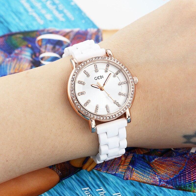 Cristal de luxo relógio feminino ouro aço cinto água diamante dail pulseira china relógio polígono presente relógio
