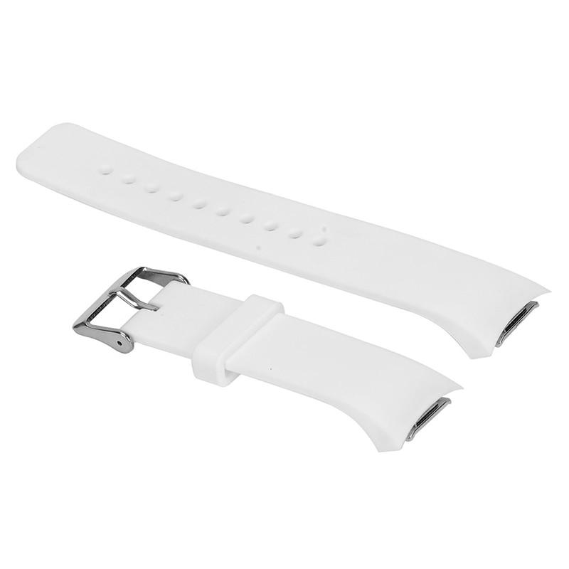 Роскошный силиконовый ремешок для часов Samsung Galaxy S2 Gear SM R720 белый|Ремешки часов| |