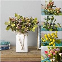 1Pc Bruiloft Decoratie Kunstmatige Bloem Boeket Diy Granaatappel Home Decor Foam Fruit Bessen Nep Bloemen 26Cm 2 Takje bloemen