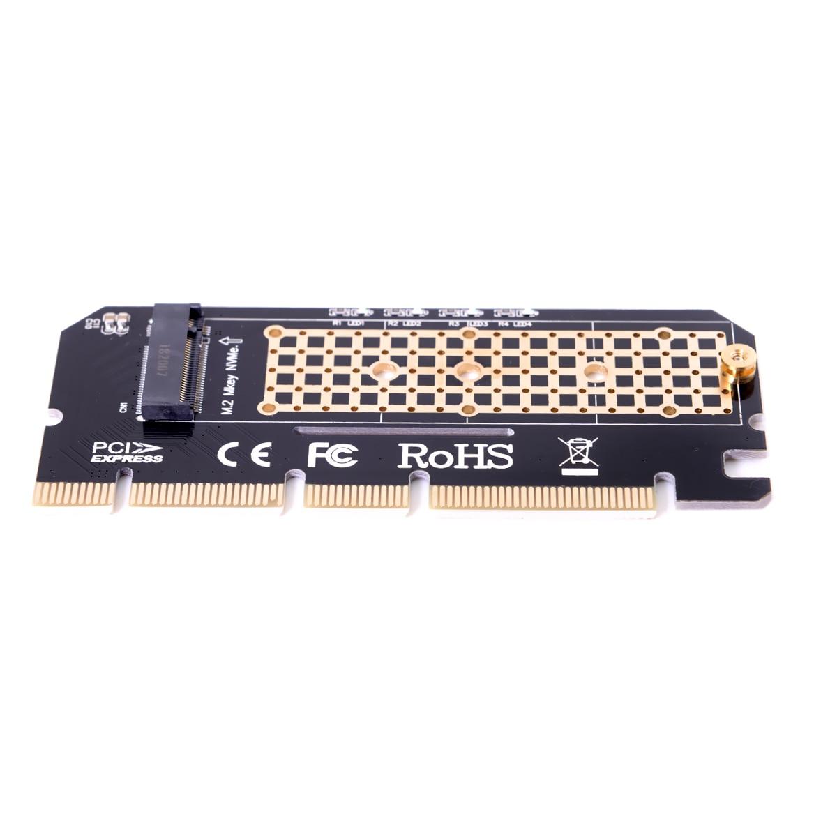 Placa base PCI-E 3,0 16x 4x adaptador a NGFF m-key NVME AHCI SSD para XP941 SM951 PM951 970 960 EVO SSD