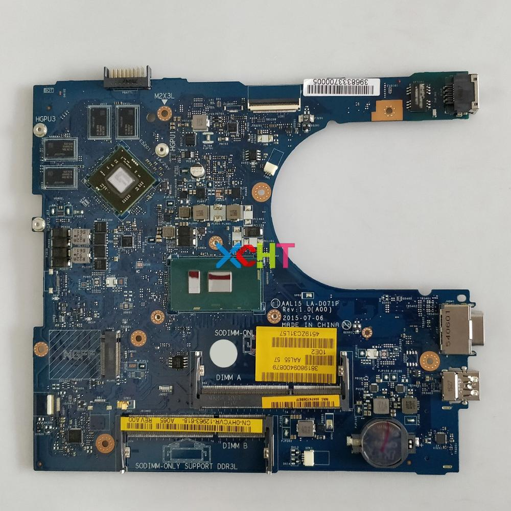 CN-0HYCVR 0 HYCVR AAL15 LA-D071P w i7-6500U CPU 216-0864046 GPU para Dell 5559 PC portátil placa base placa base