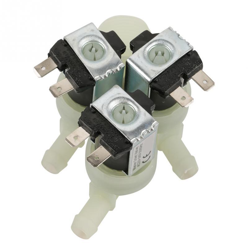 Válvula de solenoide caliente, entrada de agua de 3 vías, válvula de solenoide eléctrica Normal N/C CA 220V