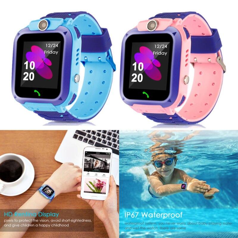 Reloj inteligente niños relojes para niñas chicos reloj pulsera para estudiantes reloj Digital para iOS Android