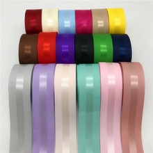 5yards/lot 1'' (25mm) Grosgrain Edge Satin Ribbon Hair Bow Party Christmas Wedding Decoration Grosgrain Ribbon