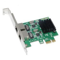 SSU 8120-T2 2 Portas 1000Mbps Gigabit Ethernet 10/100/1000M PCI-E Placa de Rede PCI Express RJ45 adaptador LAN para PC Desktop