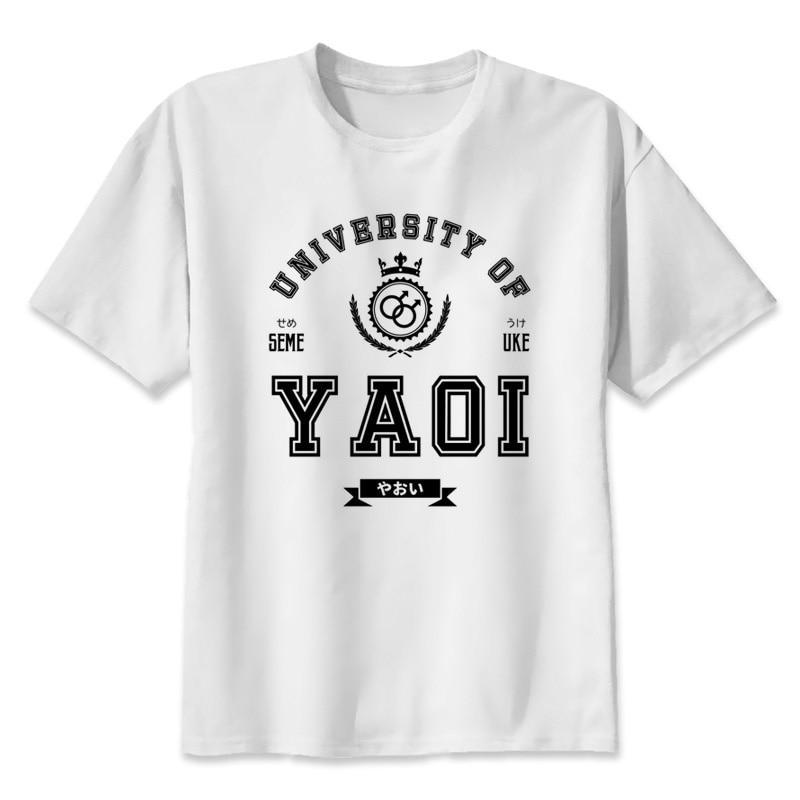 Yaoi 2019 camiseta de moda de verano novedosa camisetas divertidas para hombres, camisetas de Hip Hop Q2311