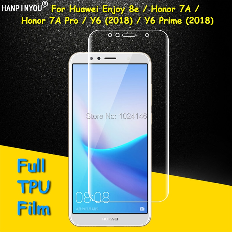 Front / Back Full Coverage Clear Soft TPU Film Screen Protector For Huawei Y6 Prime 2018 Honor 7A Pr
