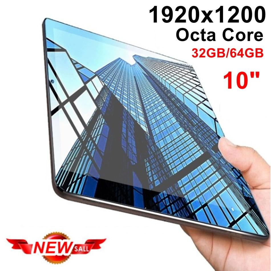 Новый IPS планшет с восьмиядерным процессором 10 дюймов 32 ГБ/64 Гб 2 в 1 планшет с телефоном Full HD 1920x1200 планшетный ПК Android 7,0 Google Play 10 10,1