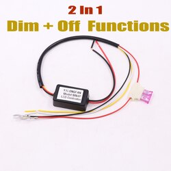 1 шт. Автомобильный светодиодный светильник дневного света, релейный жгут, контроллер DRL, модуль автоматического включения/выключения, димм...