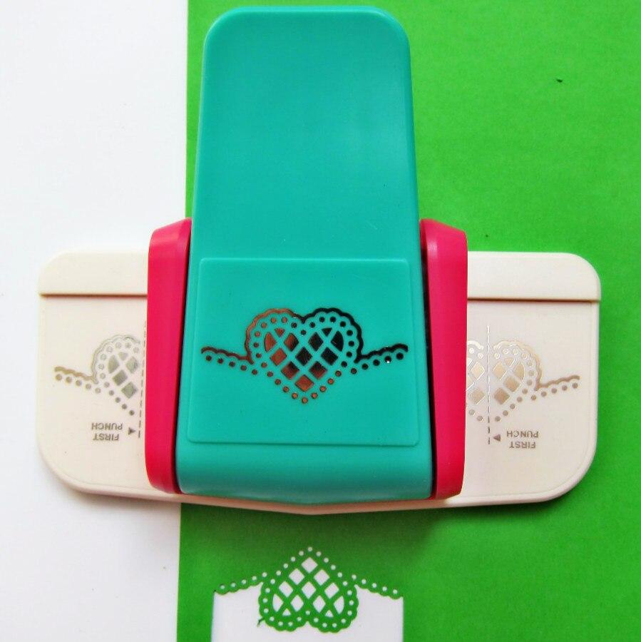 Large Fancy Border Embossing Hole Punch Scrapbooking Machine Handmade Edge Device Paper Cutter Furador Eva DIY Heart Puncher