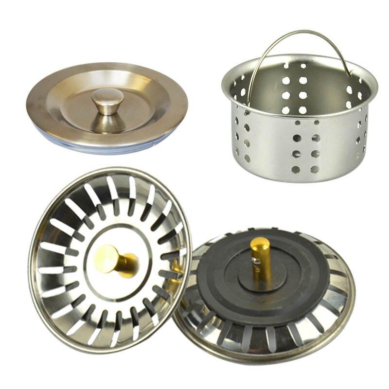 1 Uds., suministros para baño de acero inoxidable, tapón de filtro para papelera, accesorios de cocina, cesta para piscina, embudo de agua, coladores para lavabo
