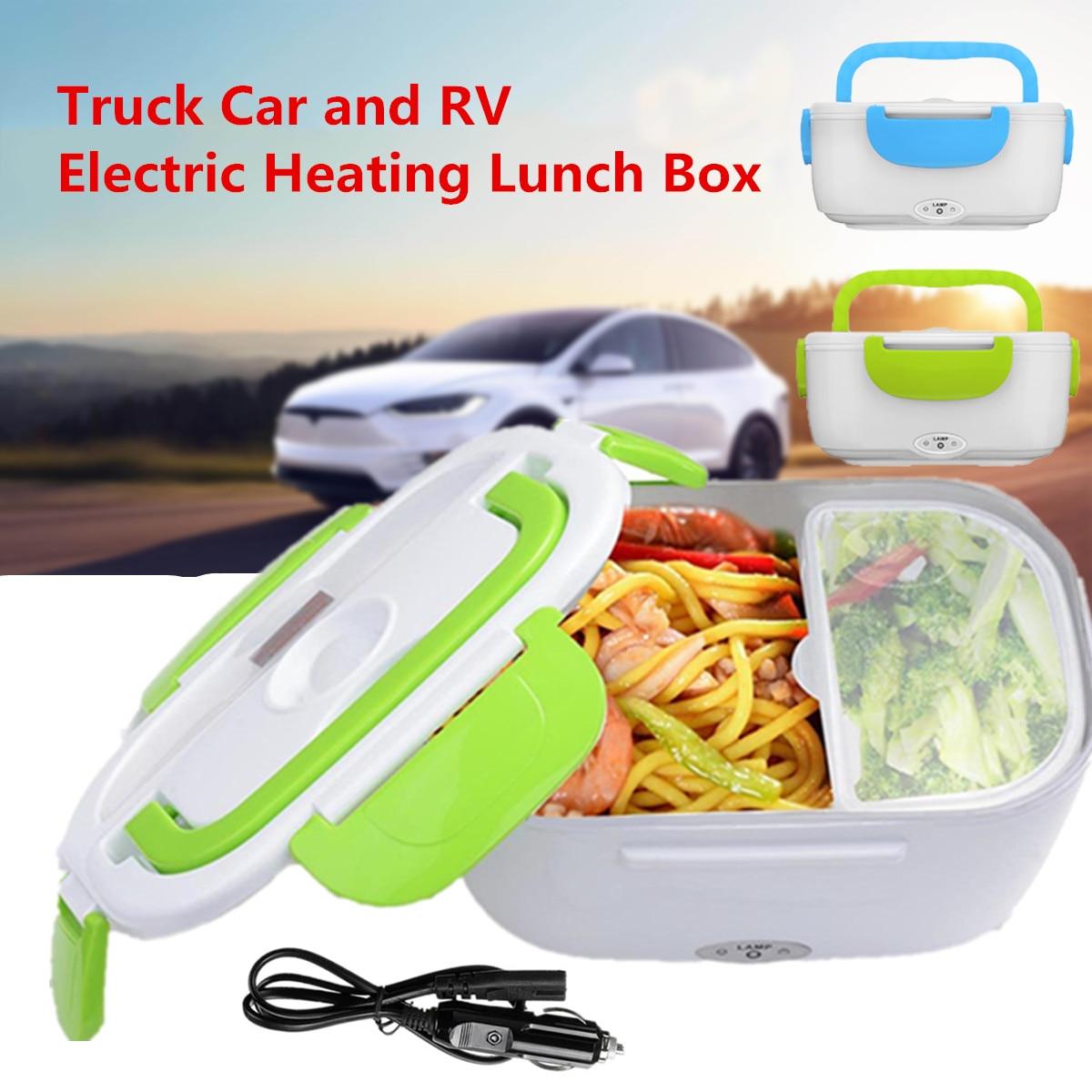 Fiambrera eléctrica portátil de 12-24V para coche, caja de comida Bento, contenedor de arroz, calentador para escuela, oficina, hogar, vajilla