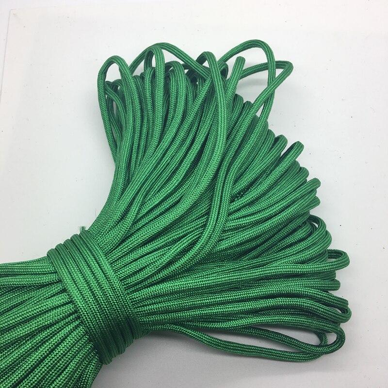 10yds/lote verde paracord pulseiras corda 7 strand pára-quedas cabo campismo caminhadas # sz61
