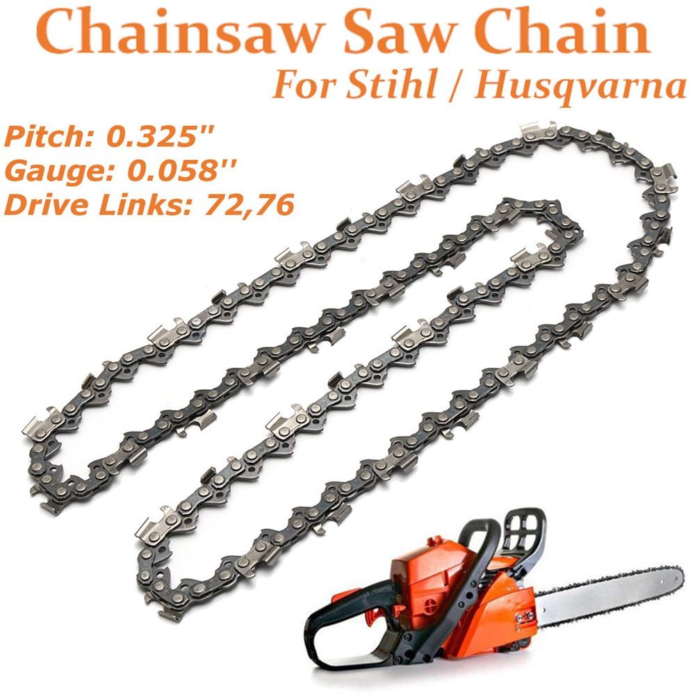 18/20 Inch 72/76 Drive Link Chainsaw saw Chain Blade Wood Cutting Chainsaw Parts Chainsaw Saw Mill Chain for Cutting Lumber