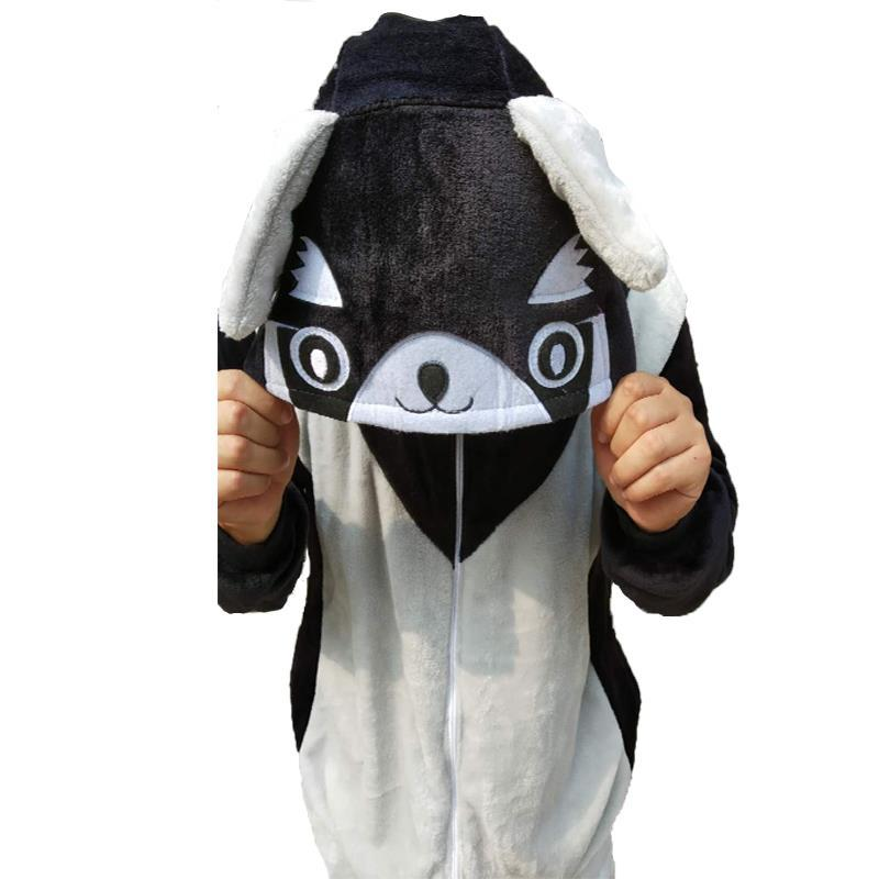 Adulto Onesie negro mapache Kigurumi pijamas nuevo mapache Sleepsuit Cosplay pijamas Unisex Anime ropa de dormir