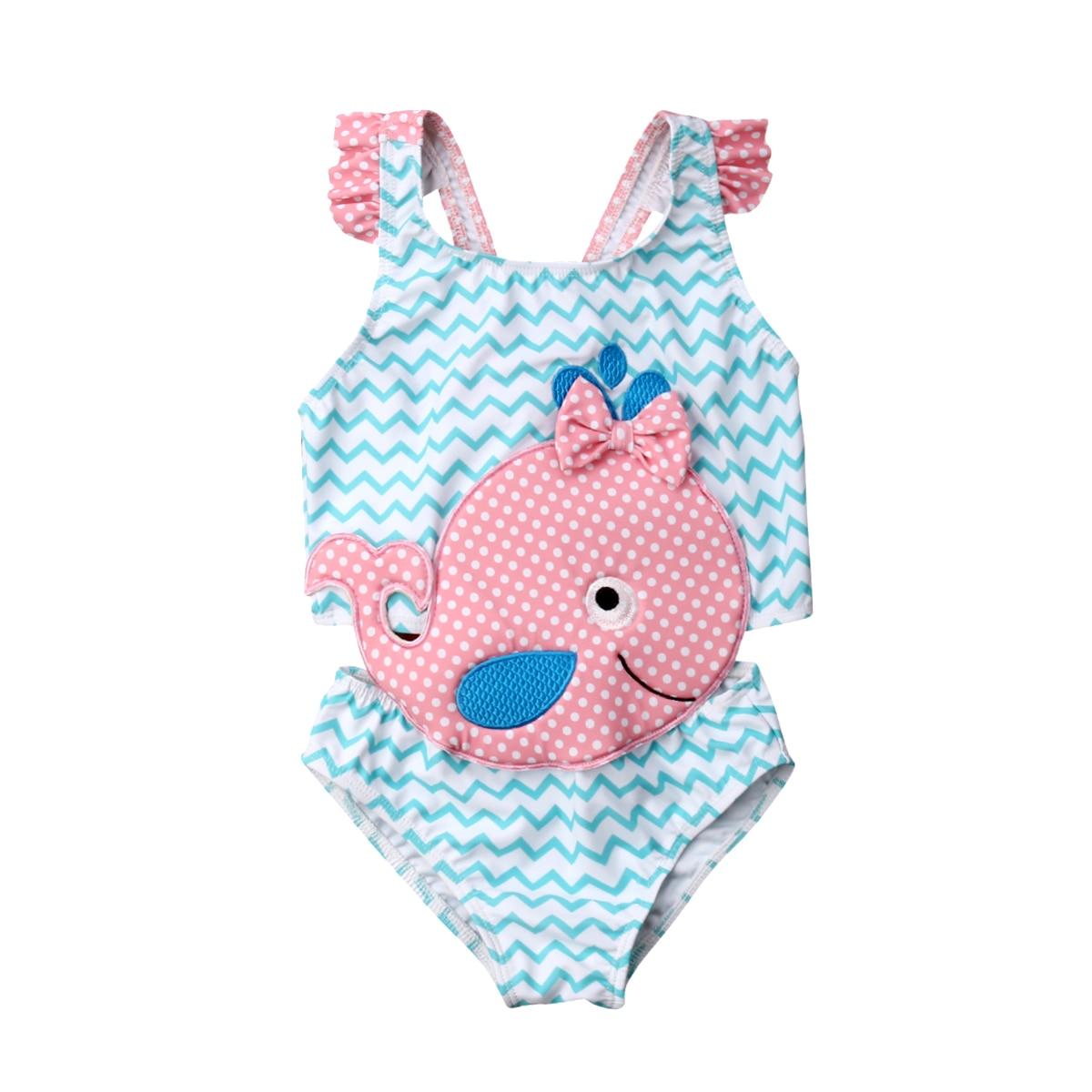Pudcoco 2019 Summer Baby Girls Goldfish Swimwear Swimsuit Beachwear Bathing Suit One Piece