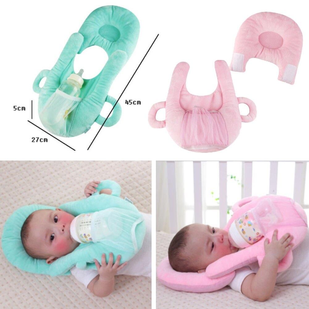 Infant Baby Kids Nursing Cushion Anti Roll Prevent Flat Head Cushion Sleep Pillow Multifunction feeding Layered Washable Pillow
