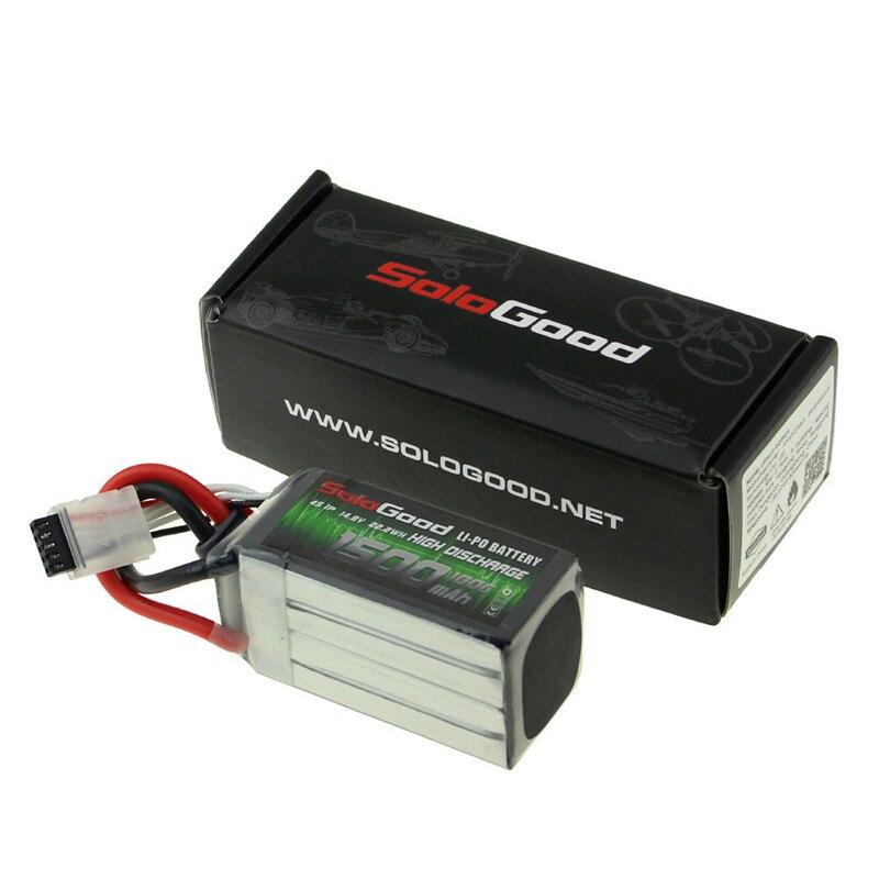Soligood 14,8 V 1500mAh 75C 4S XT60 enchufe Lipo batería para Rc Racing Car Model partes