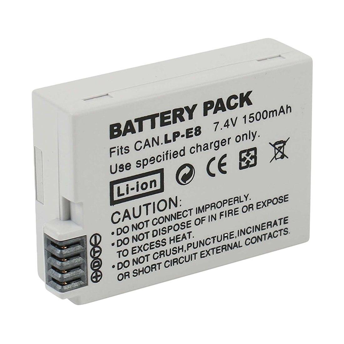 Alta calidad LP-E8 Paquete de batería LP-E8 Lp E8 para Canon 550D...